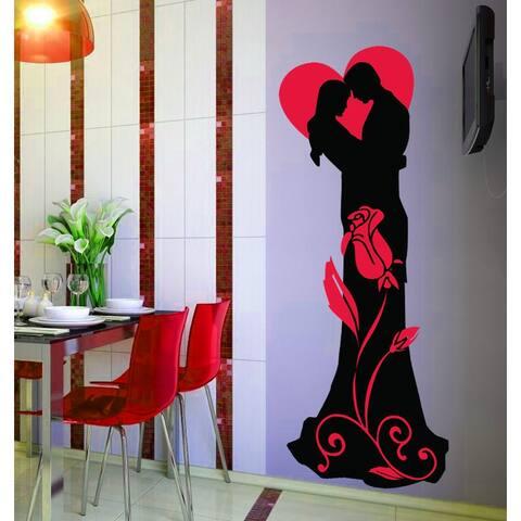 Wedding Decor, Couple In Love Wall Decal, Romantic Wall Decor, sticker