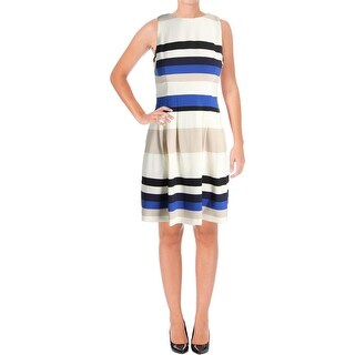 Lauren Ralph Lauren Womens Petites Wear to Work Dress Striped Sleeveless