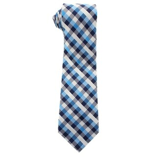 Nautica Mens Beach Club Silk Gingham Neck Tie - o/s