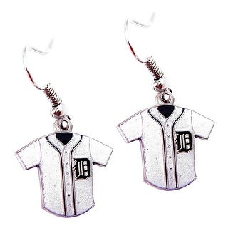 MLB Detroit Tigers  Glitter Jersey Dangle Earring Set Charm Gift