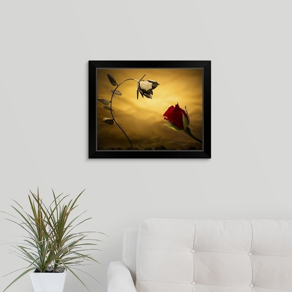 """Opposites Attract"" Black Framed Print"