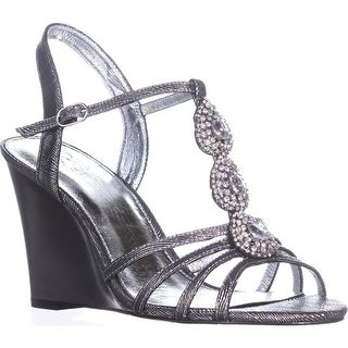 Adrianna Papell Kristen Wedge Dress Sandals, Pewter