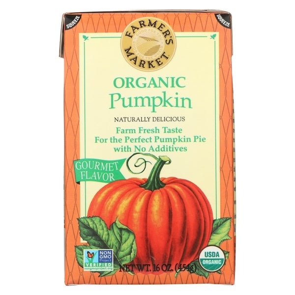 Farmer's Market Organic Pumpkin - Potato Puree - Case of 12 - 16 oz.