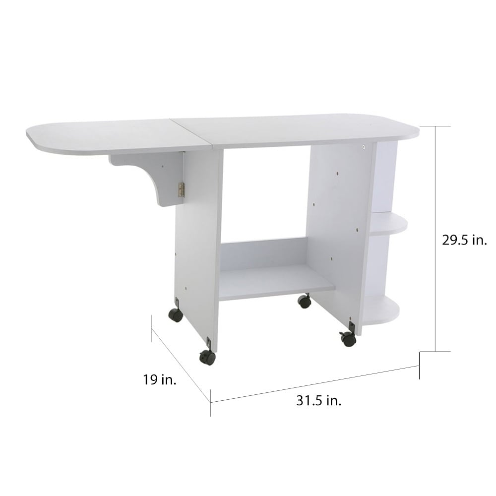 - Shop White Folding Sewing Machine Table - On Sale - Overstock