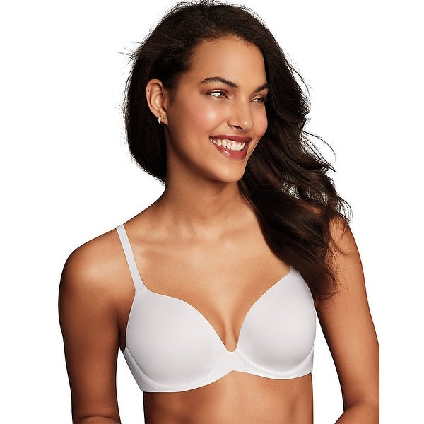 ede8ca9c3455a Shop Maidenform® One Fabulous Fit™ 2.0 Tailored Demi Underwire Bra - Color  - White - Size - 34D - Free Shipping On Orders Over  45 - Overstock.com -  ...