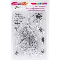 "Stampendous Perfectly Clear Stamps 7.25""X4.625""-Spider Fear"