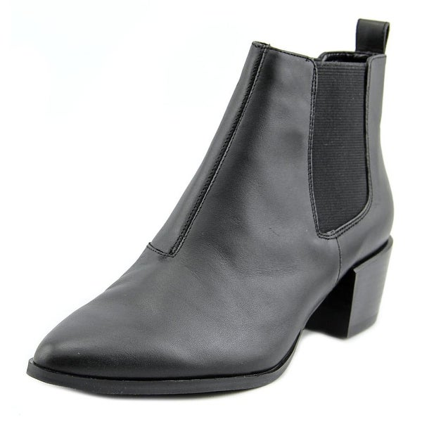 Steve Madden Vanity Women Pointed Toe Leather Black Bootie