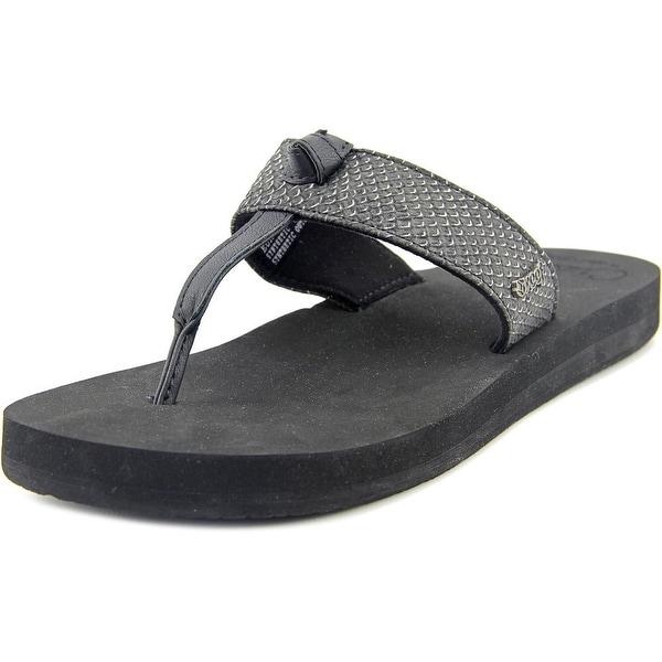 Reef Cushion Hi-T Women Open Toe Synthetic Black Thong Sandal