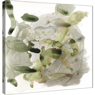 """PTM Images 9-100927  PTM Canvas Collection 12"""" x 12"""" - """"Amorphous E"""" Giclee Abstract Art Print on Canvas"""
