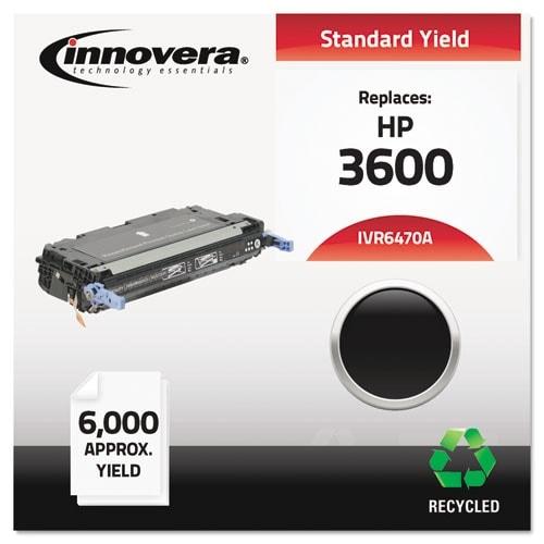 Innovera Remanufactured Q6470A (501A) Toner, Black Remanufactured Q6470A (501A) Toner, Black