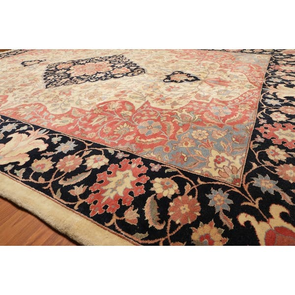 Hand Knotted Romanian Tabriz Beige Rose Oriental Area Rug Wool Traditional Persian Oriental Area Rug 9x12 10 3 X 13 11 On Sale Overstock 31305015