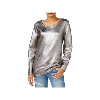 Fair Child Womens Pullover Sweater Metallic Tunic (4 options available)