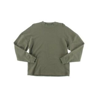 Laboratory Mens Crew Sweatshirt French Terry Pull On - L