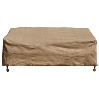 Budge P3W06SFRC-N Loveseat Cover w/ 3-Layer Polypropylene Protection, Tan, Large