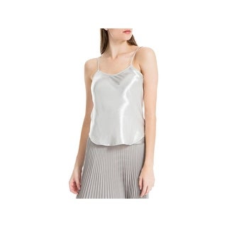 Max Studio Womens Camisole Top Satin Textured