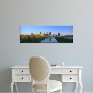 Easy Art Prints Panoramic Images's 'Sunset, Philadelphia, Pennsylvania' Premium Canvas Art