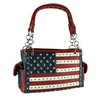 Black Red and White Stars and Stripes Concealed Carry Purse