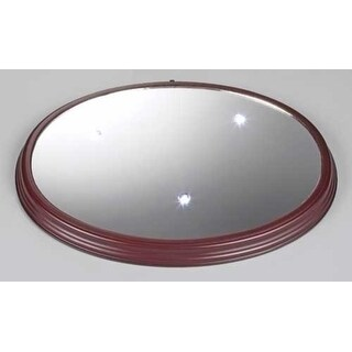 Icy Crystal Lighted LED Mirror Christmas Wooden Base 14.25""