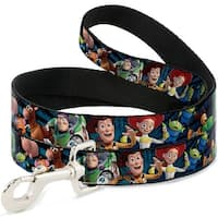 Dog Leash - Toy Story Characters Running Denim Rays