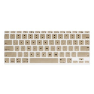 Unique Bargains Champagne Gold Soft Silicone Keyboard Film Cover for Apple MacBook Air Pro 11