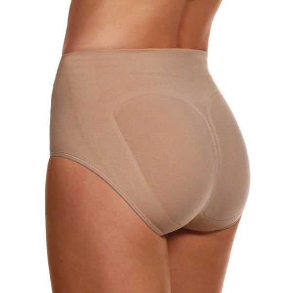 Women's Tush Ups Seamless, Ultra-Soft Shapewear - Lift, Shape, & Contour Your Backside - Tan
