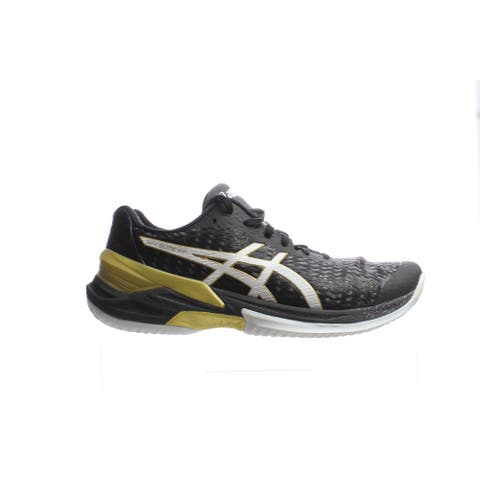 ASICS Womens Sky Elite Ff Black/White Volleyball Shoes Size 7.5