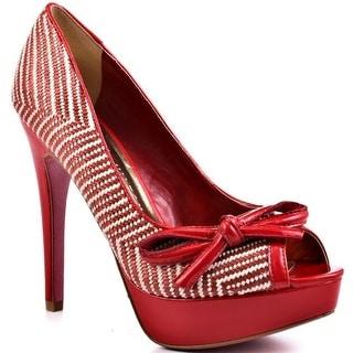 Paris Hilton Beth - Red Woven Patent