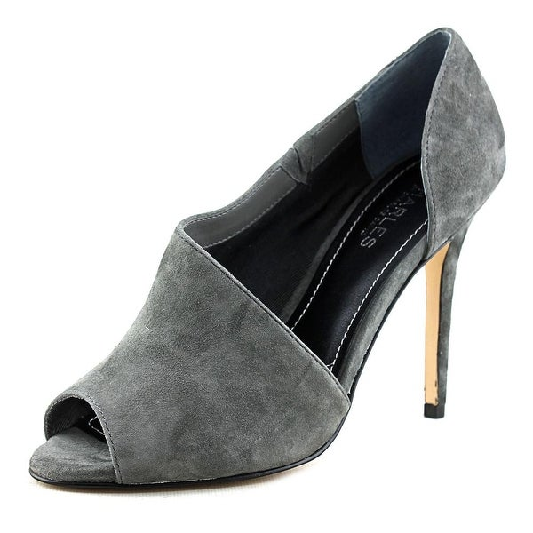 Charles By Charles David Reward Women Peep-Toe Suede Heels