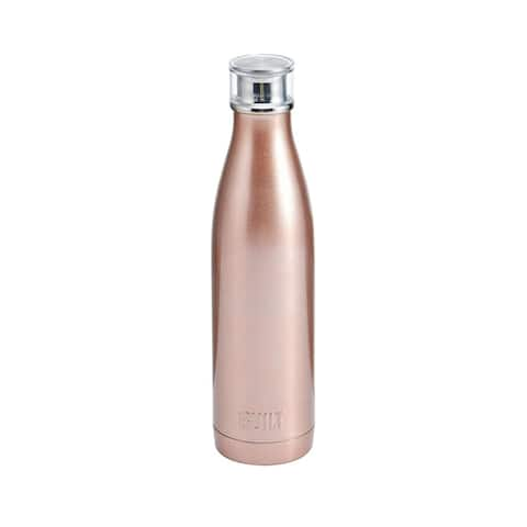 Built NY Double Wall Stainless Steel Water Bottle With Perfect Seal Technology For Hot & Cold Beverages 17 Oz - Rose Gold