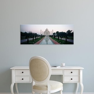 Easy Art Prints Panoramic Images's 'Facade of a building, Taj Mahal, Agra, Uttar Pradesh, India' Premium Canvas Art