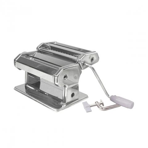 """Weston 01-0201 Traditional Style Pasta Machine, Stainless Steel, 6"""""""