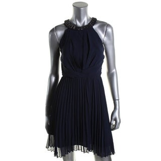 B. Darlin Womens Juniors Chiffon Embellished Cocktail Dress