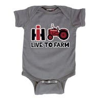 Live To Farm-Case Ih Infant One Piece