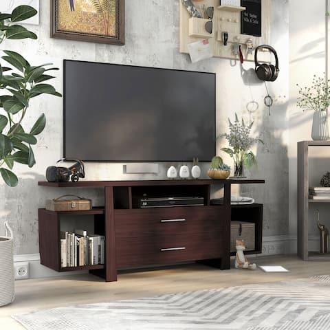 Furniture of America Bild Modern 59-inch Multi-storage TV Stand