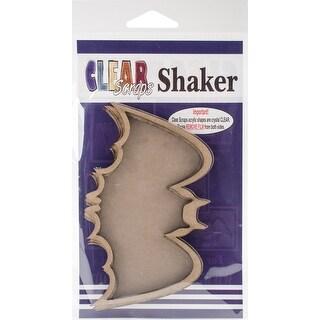 "Clear Scraps Chipboard & Acrylic Shaker Shape 3.5""X4.5""-Bat"