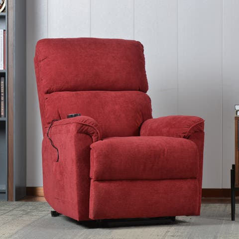 Fabric Upholstery Massage Power Lift Chair with Remote
