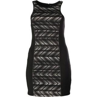 Guess Womens Monica Casual Dress Faux Trim Printed - 4