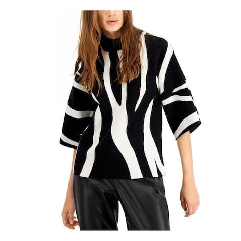 ALFANI Womens Black Kimono Sleeve Sweater Size S