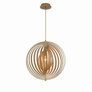 "Eurofase Lighting 31873 Abruzzo Single Light 19-1/4"" Wide Abstract Pendant"