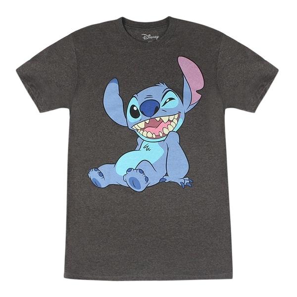 Disney Lilo And Stitch Cute Smiling Winking Grey