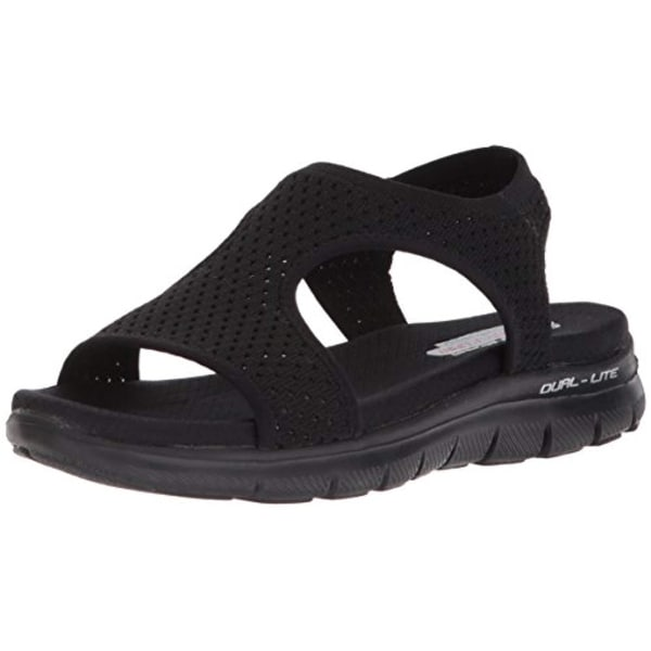 new product 42d4e 28bd7 Shop Skechers Cali Women s Flex Appeal 2.0-Deja Vu Sport Sandal,Black Black  - Free Shipping Today - Overstock - 27121489