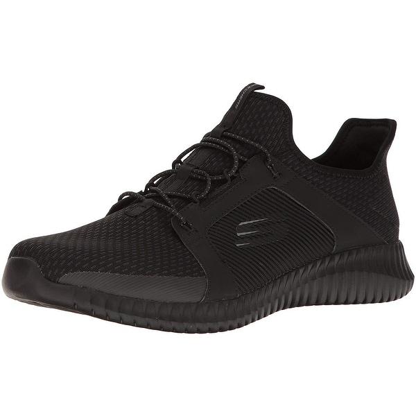 0ce44346ec07 Shop Skechers Elite Flex Mens Slip On Bungee Sneakers Black 10 W ...