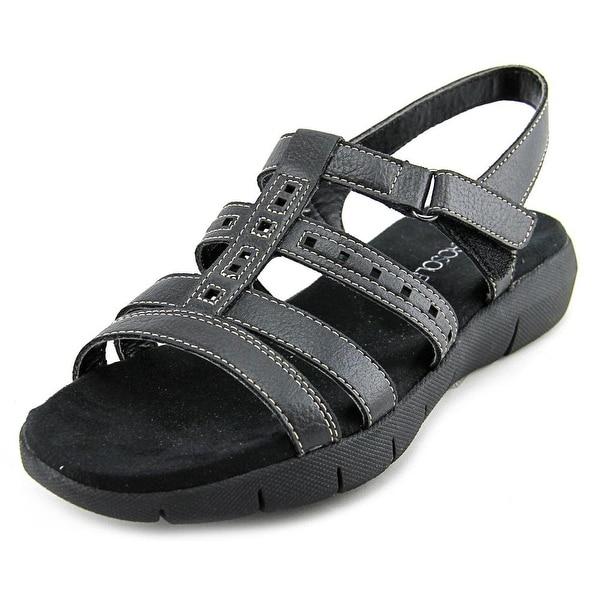 Aerosoles Wipple Threat Women Open-Toe Synthetic Black Slingback Sandal