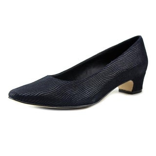 Vaneli Astyr Women Pointed Toe Leather Blue Heels