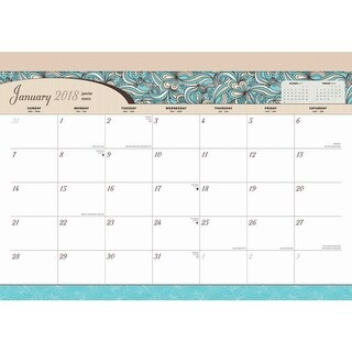 Seaside Manor Desk Pad, Contemporary Art by BrownTrout