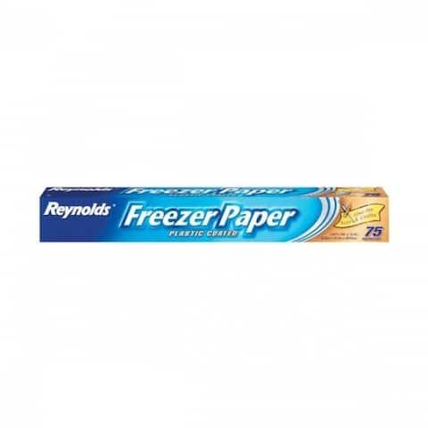 Reynolds 391 Freezer Paper, Plastic Coated, 75 Sq. Ft.