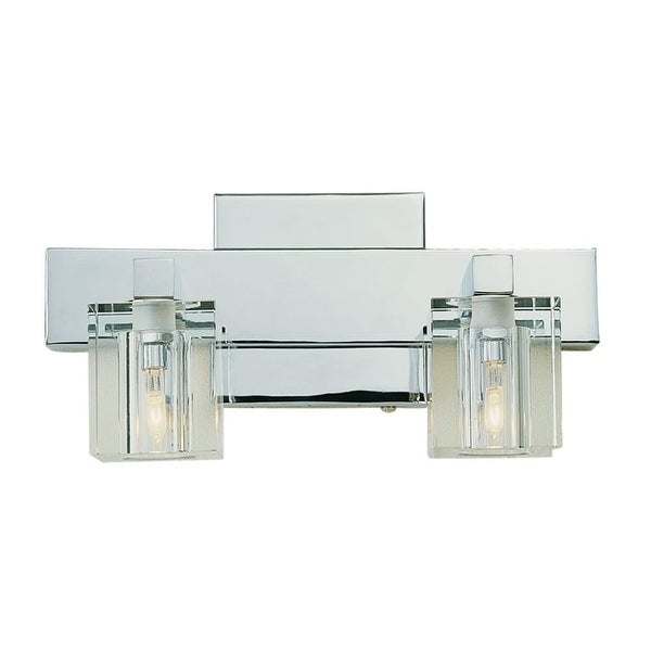 "Trans Globe Lighting 2842 Two Light Down Lighting 11"" Wide Bathroom Fixture - Polished chrome"