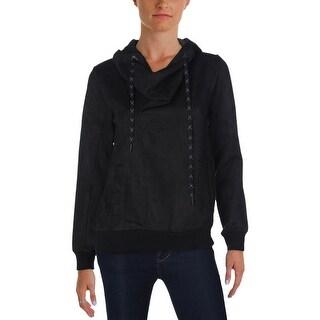 MPG Womens Sweatshirt Slouchy Faux Suede