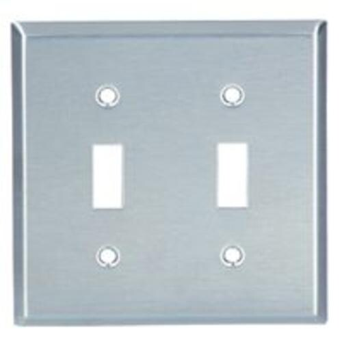 Cooper Wiring 93072 Box 2g Ss Switch Plate 4 50 X 563 Free Shipping On Orders Over 45 20649077
