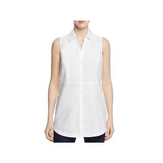 Foxcroft Womens Tunic Top Wear To Work Sleeveless